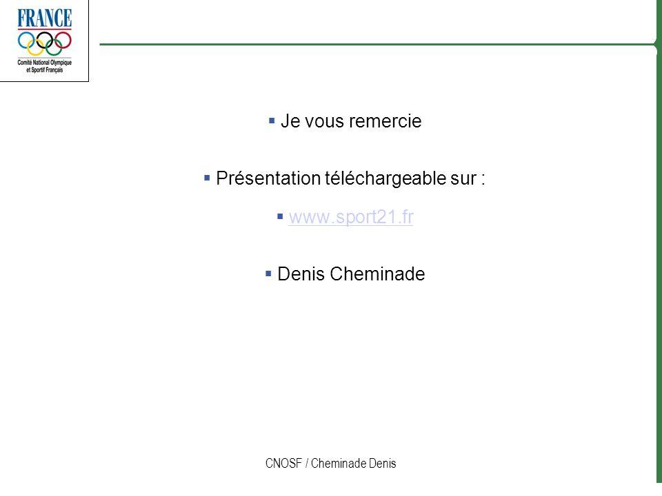 Présentation téléchargeable sur : www.sport21.fr