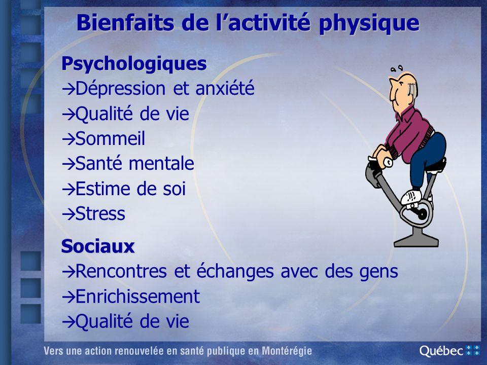 Bienfaits de l'activité physique