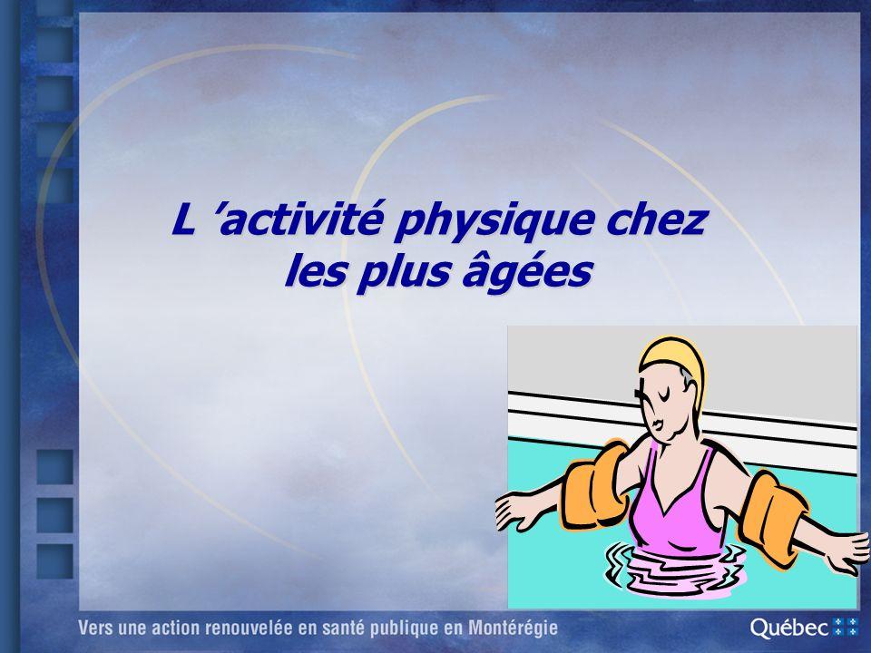 L 'activité physique chez les plus âgées