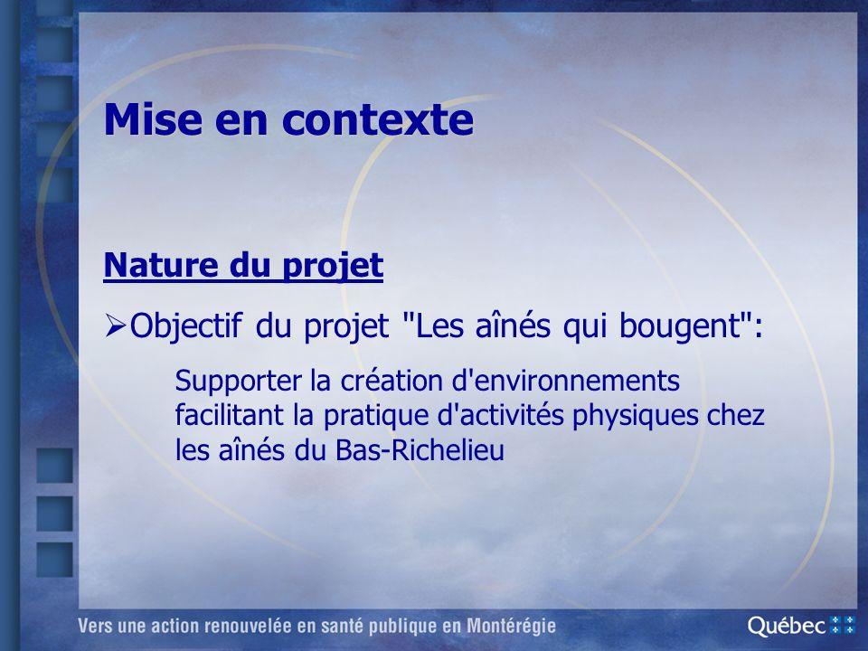 Mise en contexte Nature du projet