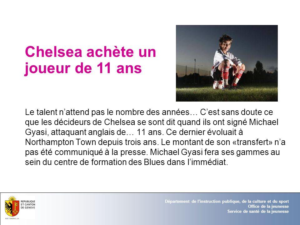 Chelsea achète un joueur de 11 ans