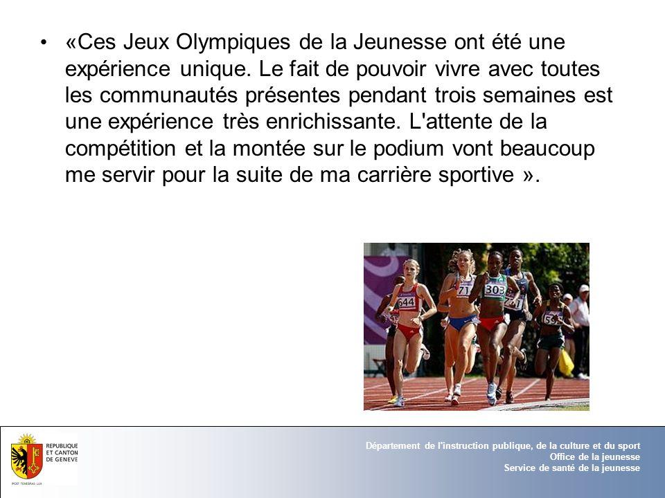 «Ces Jeux Olympiques de la Jeunesse ont été une expérience unique