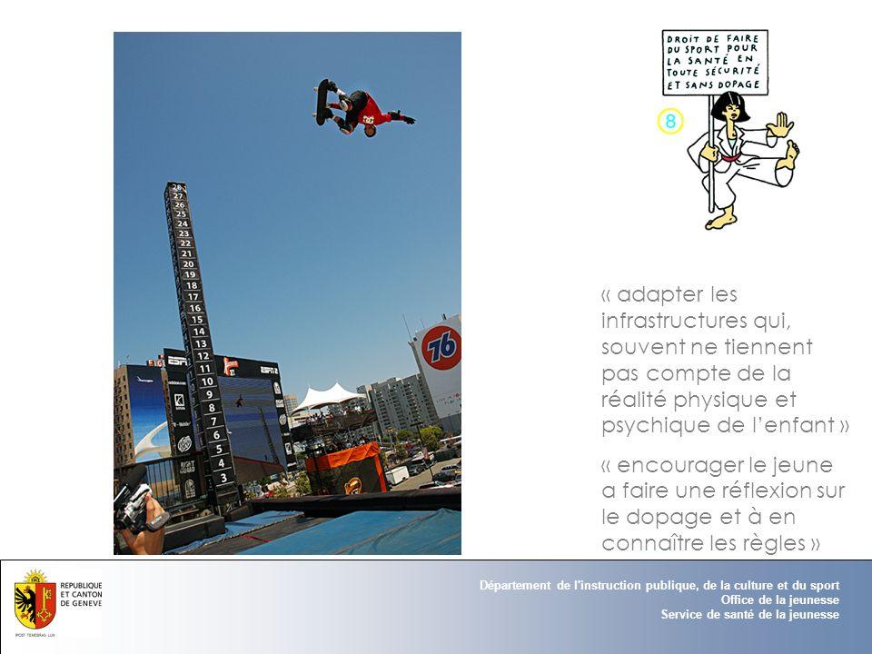 « adapter les infrastructures qui, souvent ne tiennent pas compte de la réalité physique et psychique de l'enfant »