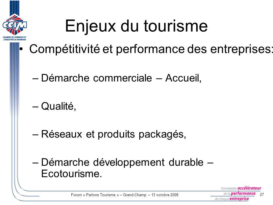 Profils et tendance du tourisme dans le morbihan ppt for Chambre commerciale 13 octobre 1998