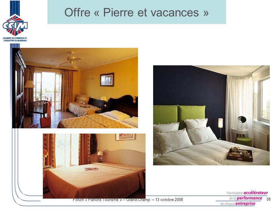 Offre « Pierre et vacances »