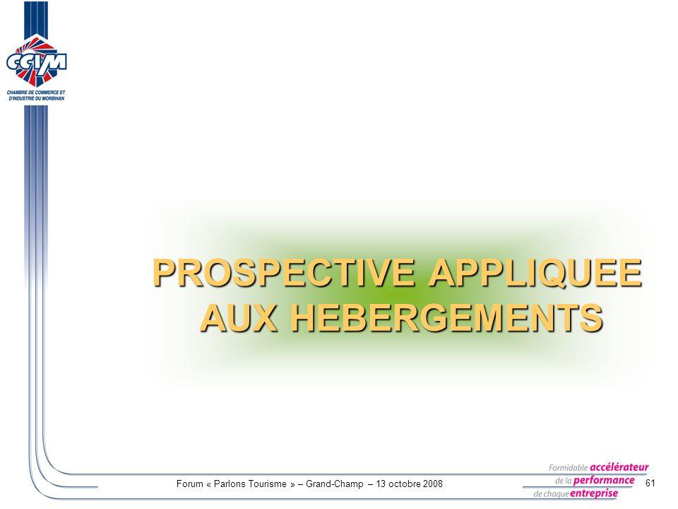 PROSPECTIVE APPLIQUEE AUX HEBERGEMENTS