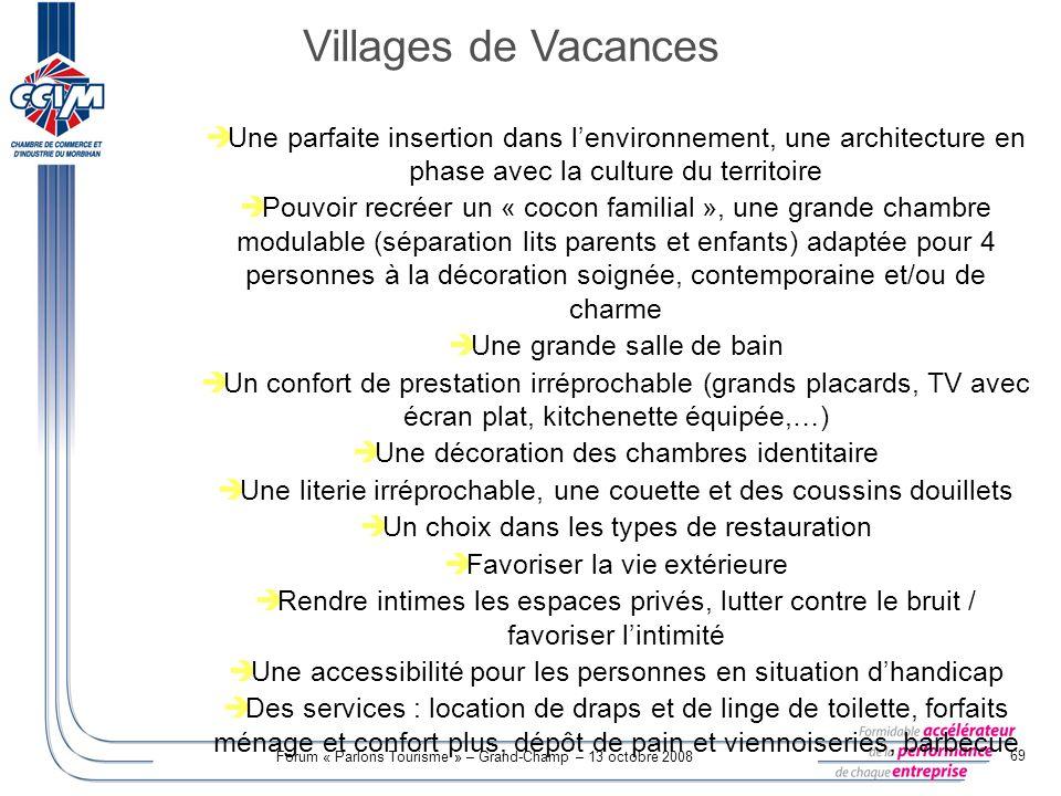 Villages de Vacances Une parfaite insertion dans l'environnement, une architecture en phase avec la culture du territoire.