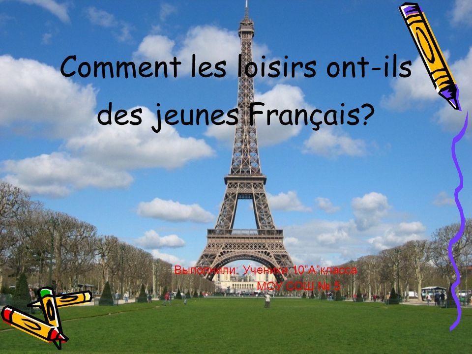 Comment les loisirs ont-ils des jeunes Français
