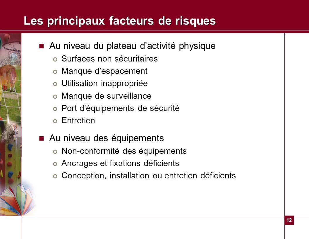 Les principaux facteurs de risques