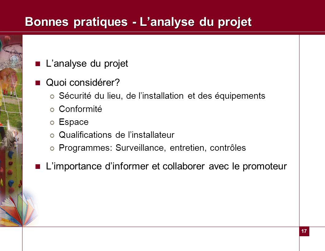 Bonnes pratiques - L'analyse du projet