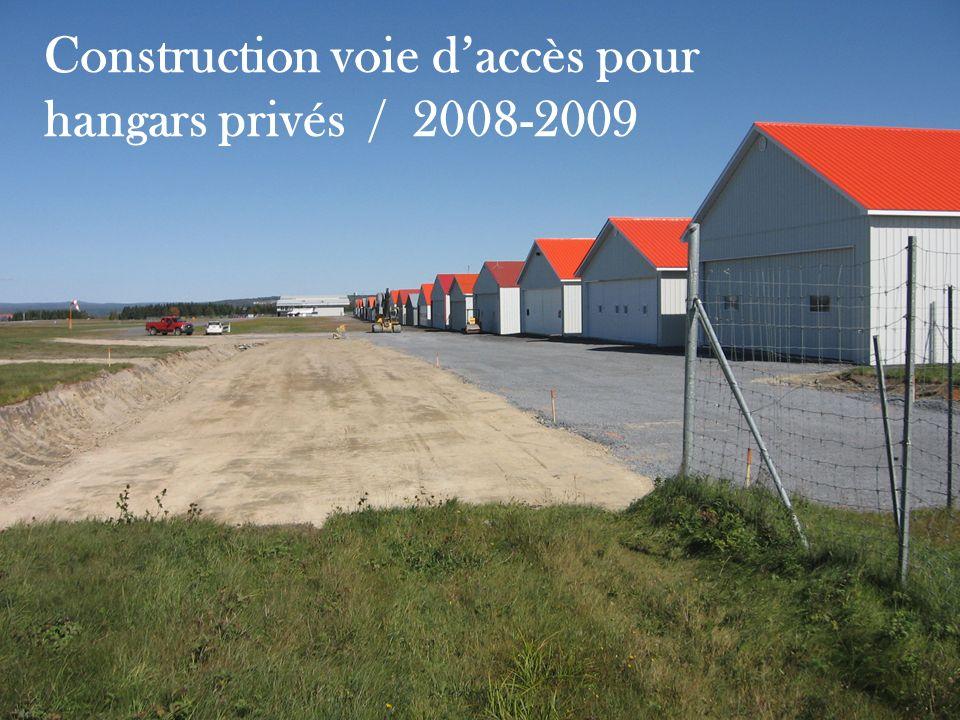 Construction voie d'accès pour hangars privés / 2008-2009