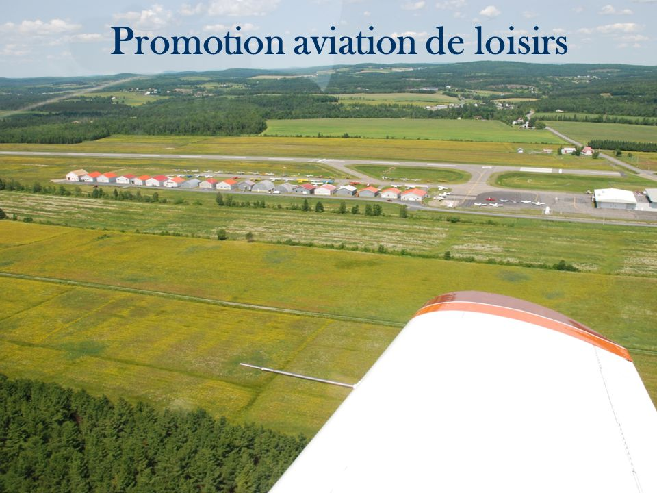 Promotion aviation de loisirs