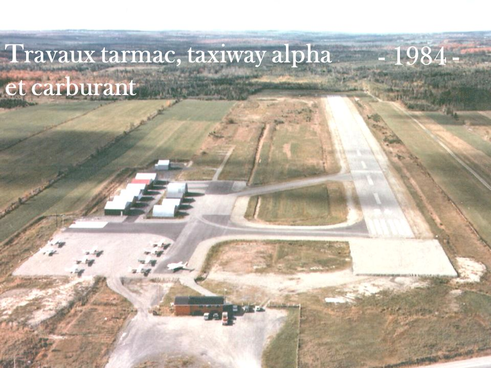 Travaux tarmac, taxiway alpha et carburant