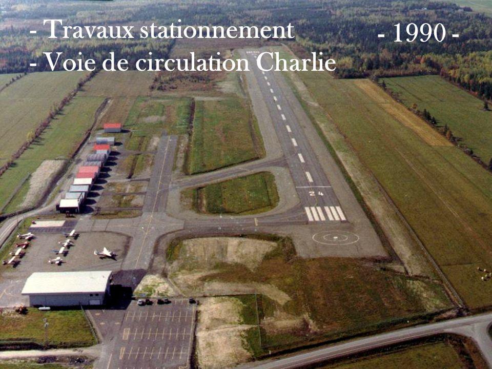 - Travaux stationnement - Voie de circulation Charlie
