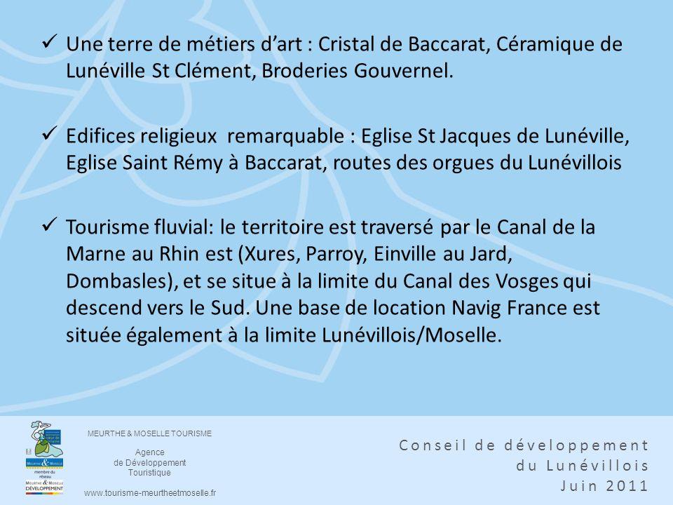 Une terre de métiers d'art : Cristal de Baccarat, Céramique de Lunéville St Clément, Broderies Gouvernel.