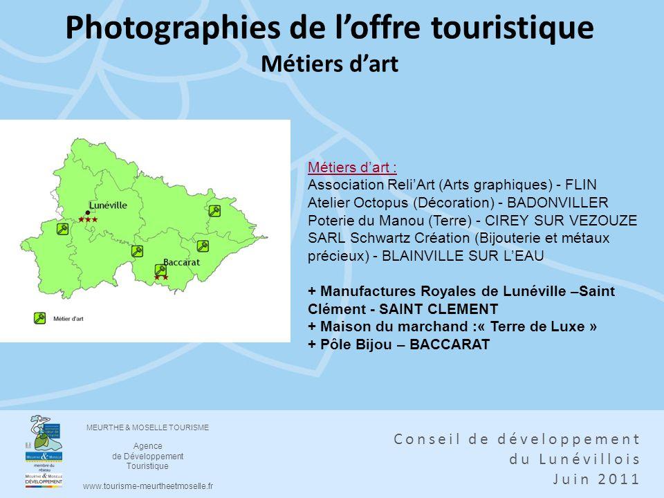 Photographies de l'offre touristique Métiers d'art