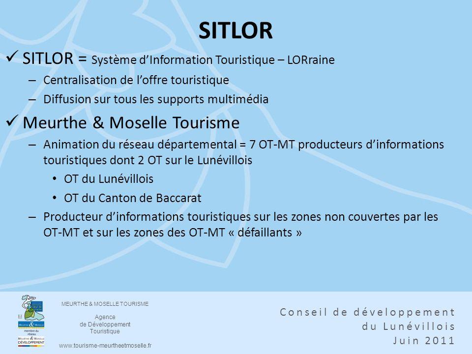 SITLOR SITLOR = Système d'Information Touristique – LORraine