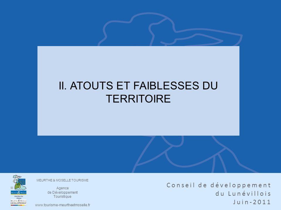 II. ATOUTS ET FAIBLESSES DU TERRITOIRE