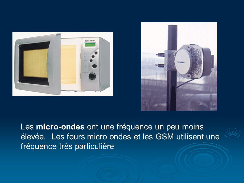 Les micro-ondes ont une fréquence un peu moins élevée