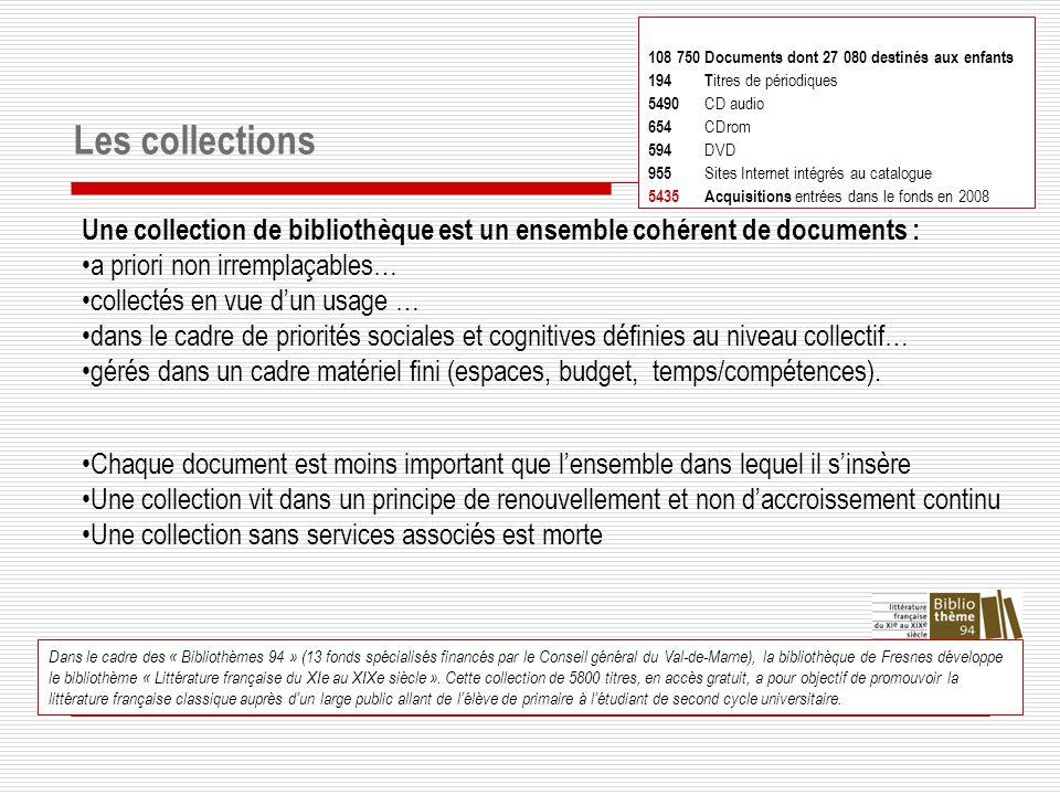 108 750 Documents dont 27 080 destinés aux enfants