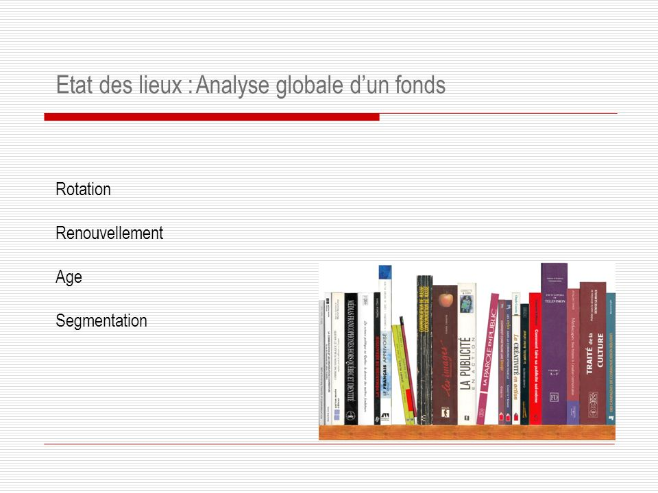 Analyse globale d'un fonds
