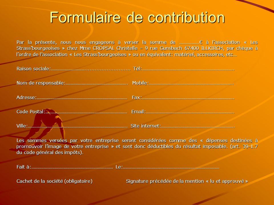 Formulaire de contribution