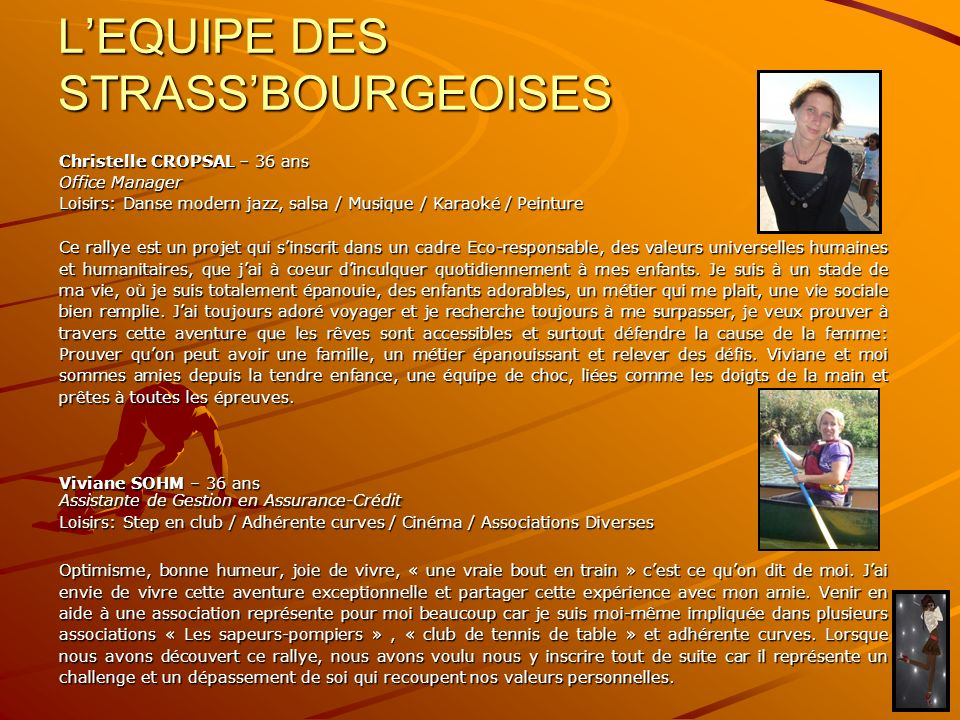 L'EQUIPE DES STRASS'BOURGEOISES