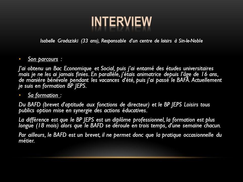 Interview Son parcours :
