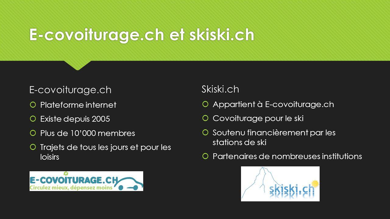 E-covoiturage.ch et skiski.ch