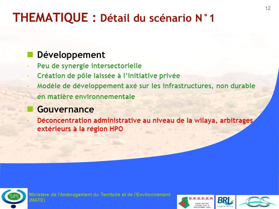 THEMATIQUE : Détail du scénario N°1