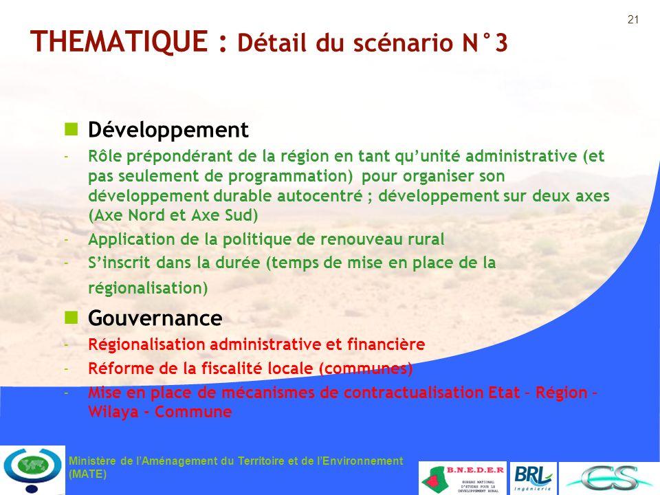 THEMATIQUE : Détail du scénario N°3
