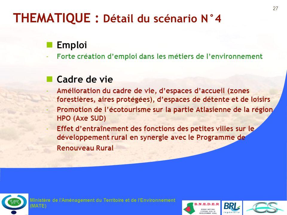 THEMATIQUE : Détail du scénario N°4