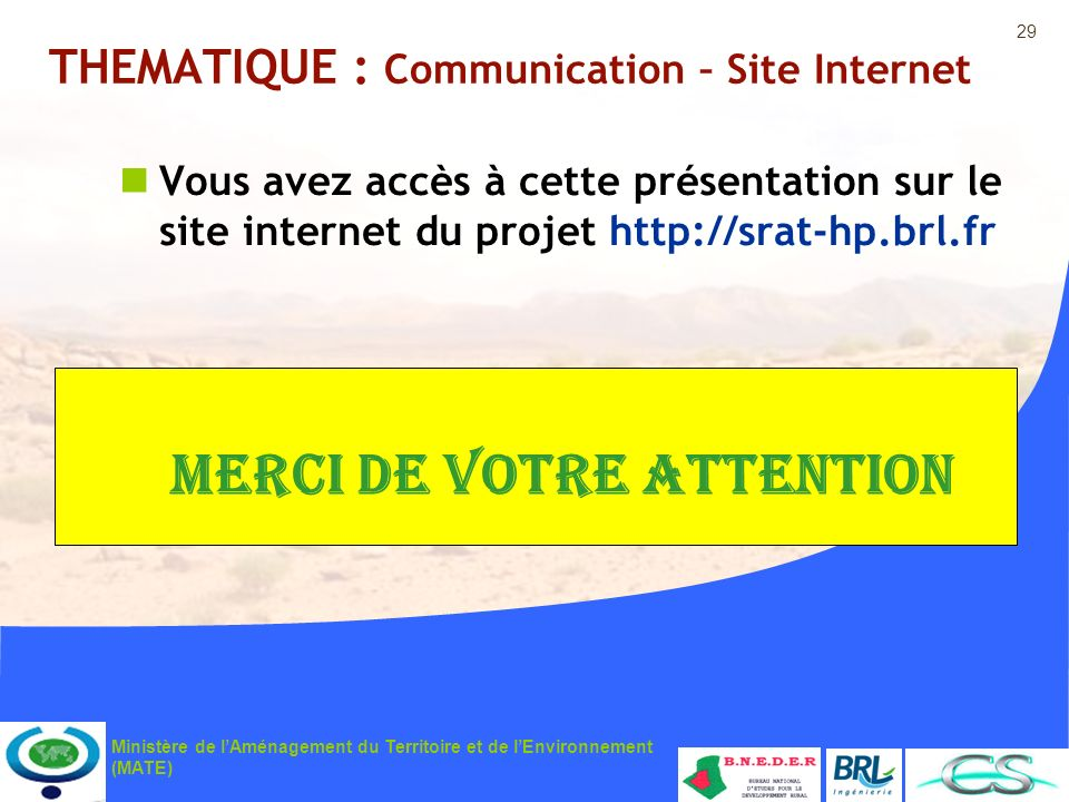 THEMATIQUE : Communication – Site Internet