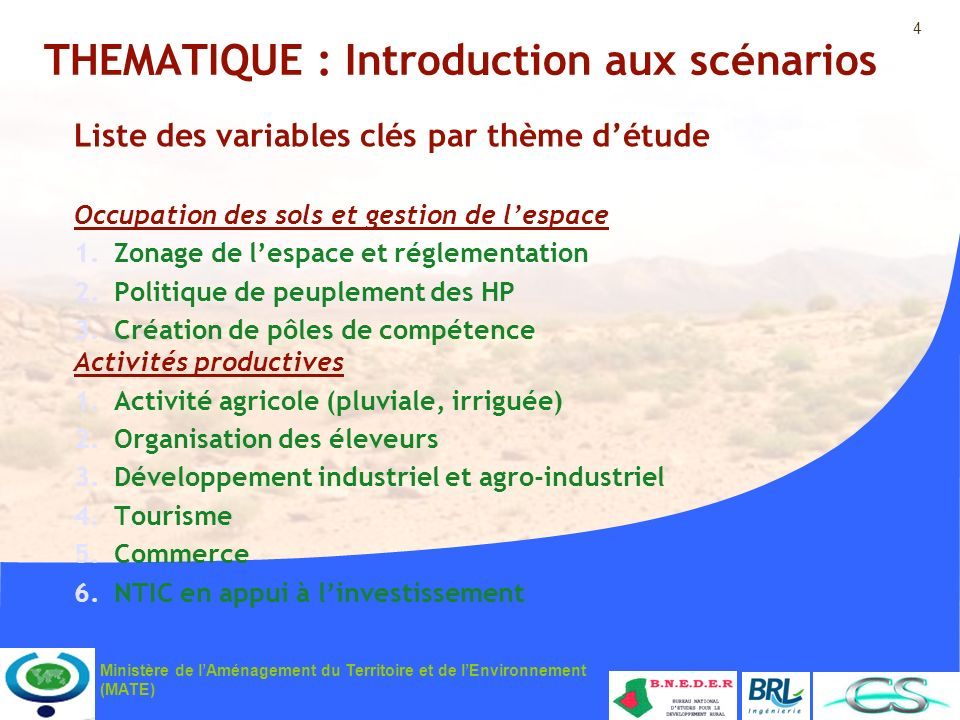THEMATIQUE : Introduction aux scénarios
