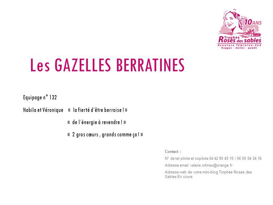 Les GAZELLES BERRATINES