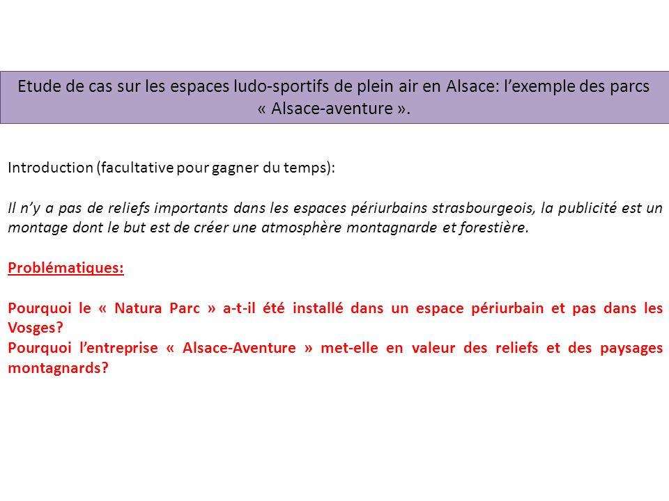Etude de cas sur les espaces ludo-sportifs de plein air en Alsace: l'exemple des parcs « Alsace-aventure ».