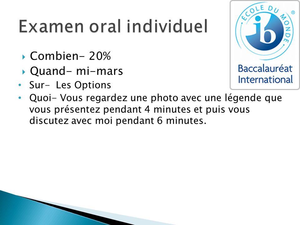 Examen oral individuel