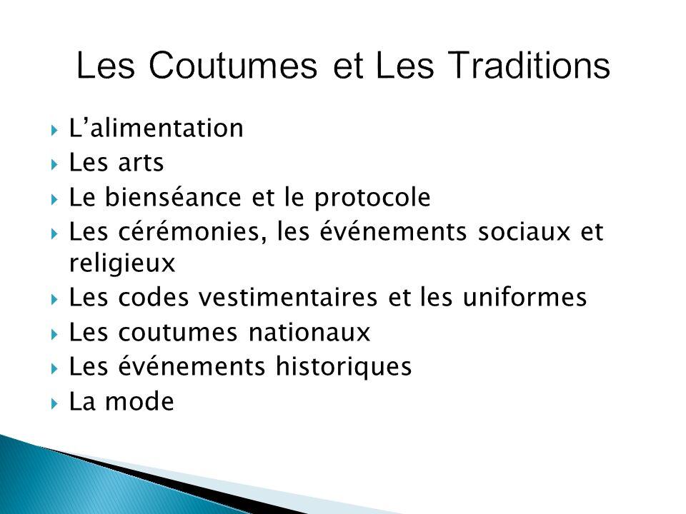Les Coutumes et Les Traditions