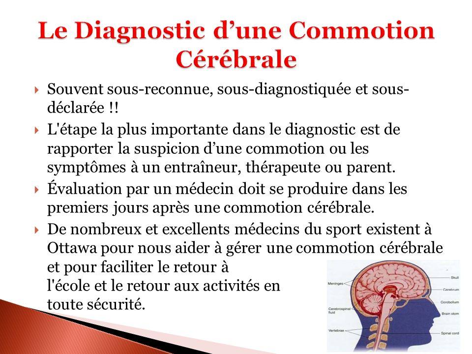 Le Diagnostic d'une Commotion Cérébrale