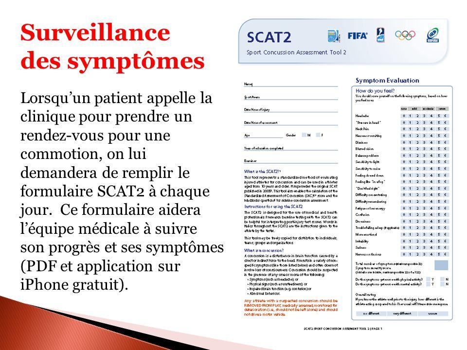Surveillance des symptômes