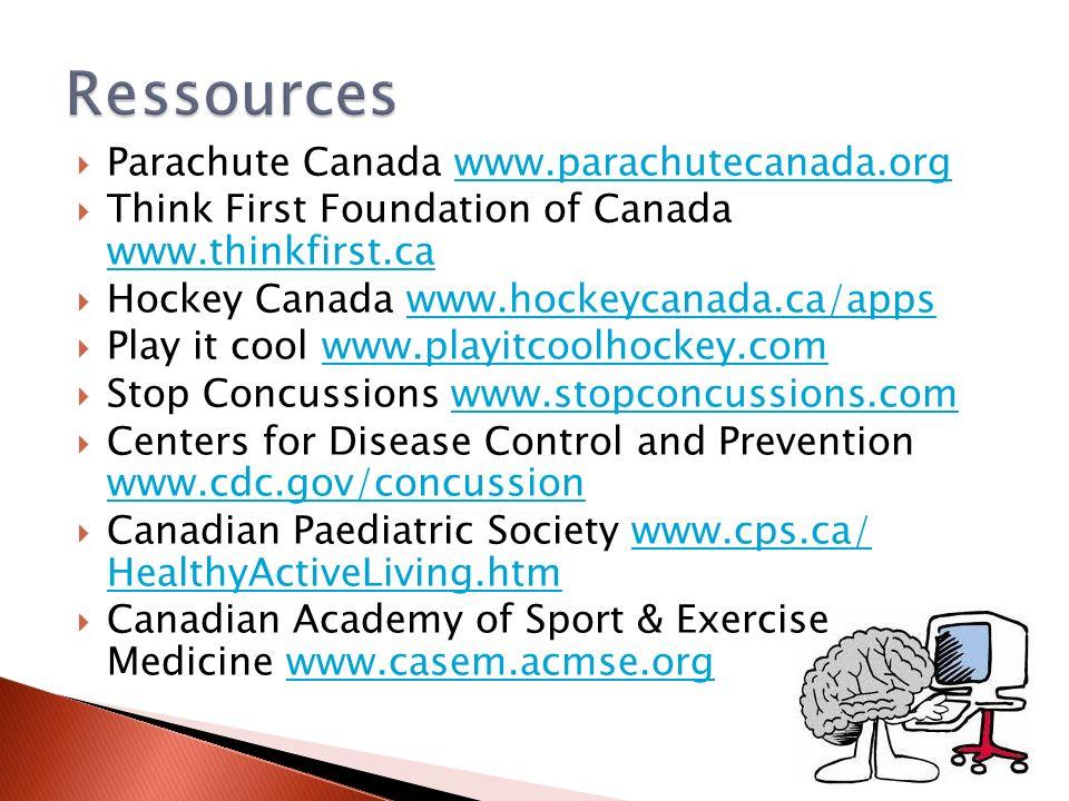 Ressources Parachute Canada www.parachutecanada.org
