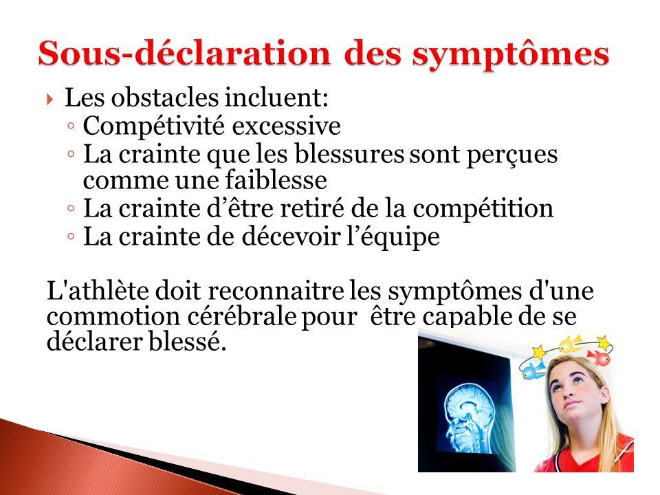 Sous-déclaration des symptômes