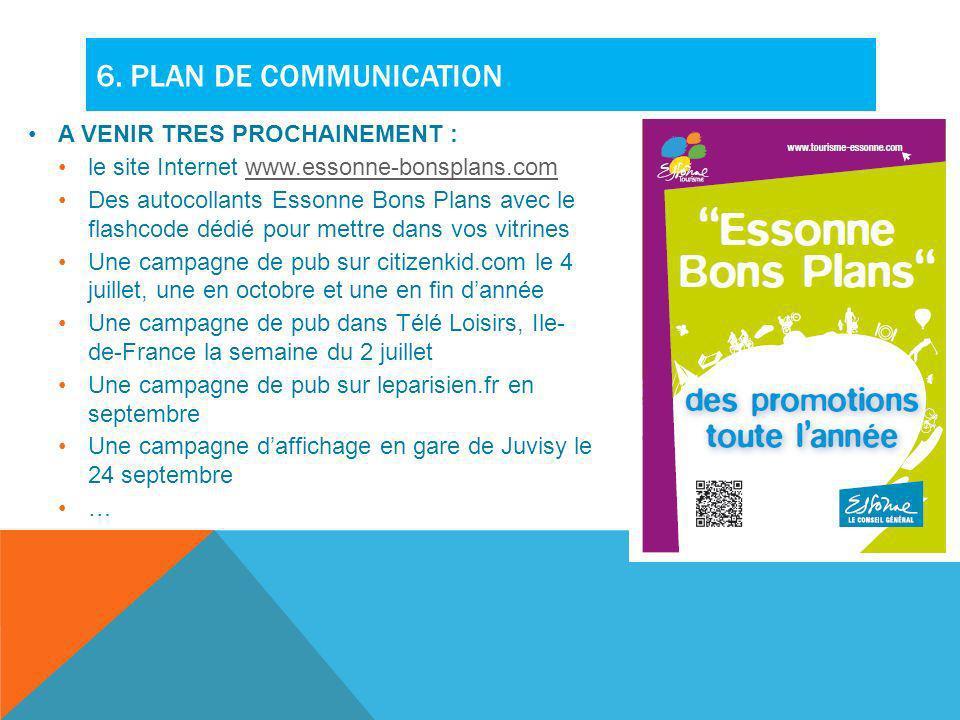 6. Plan de communication A VENIR TRES PROCHAINEMENT :