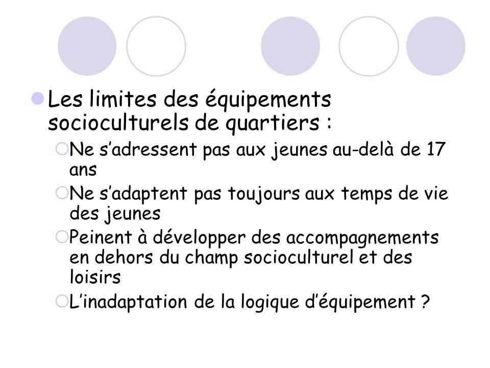 Les limites des équipements socioculturels de quartiers :