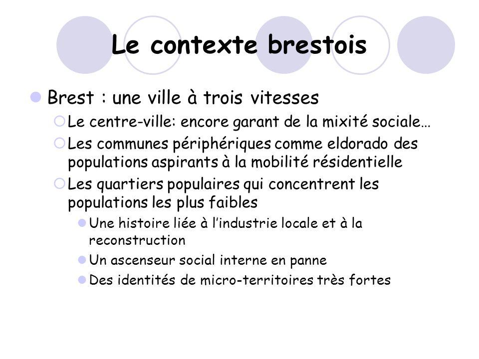 Le contexte brestois Brest : une ville à trois vitesses