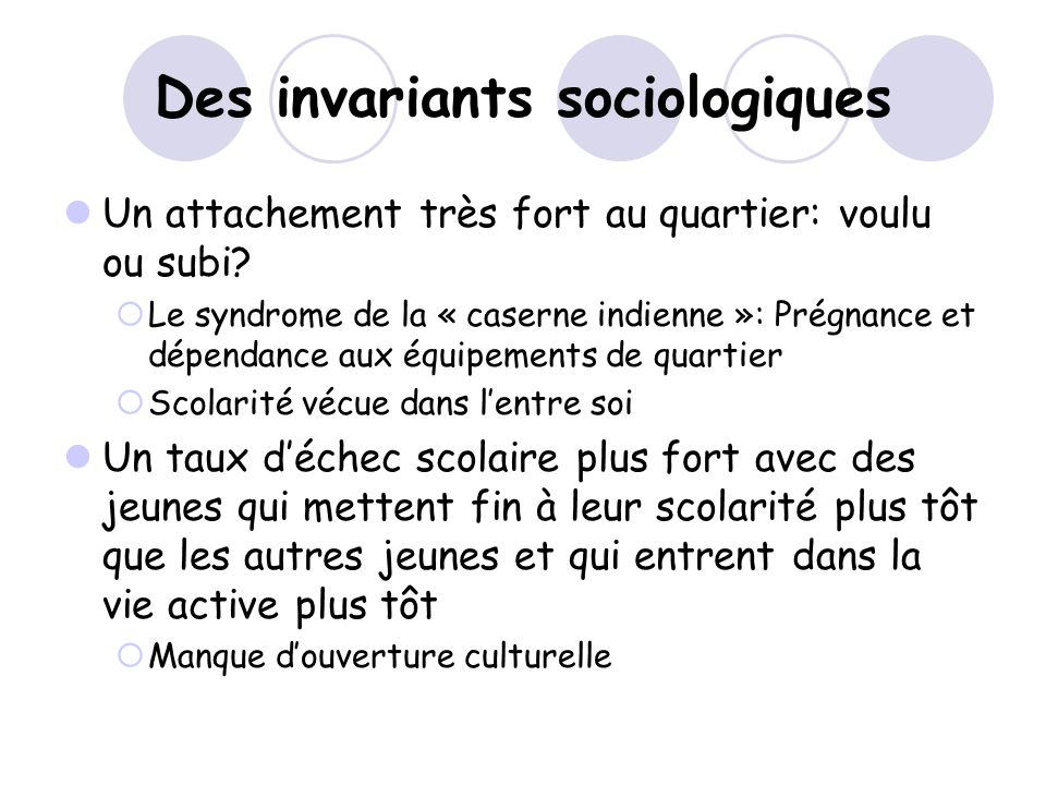 Des invariants sociologiques