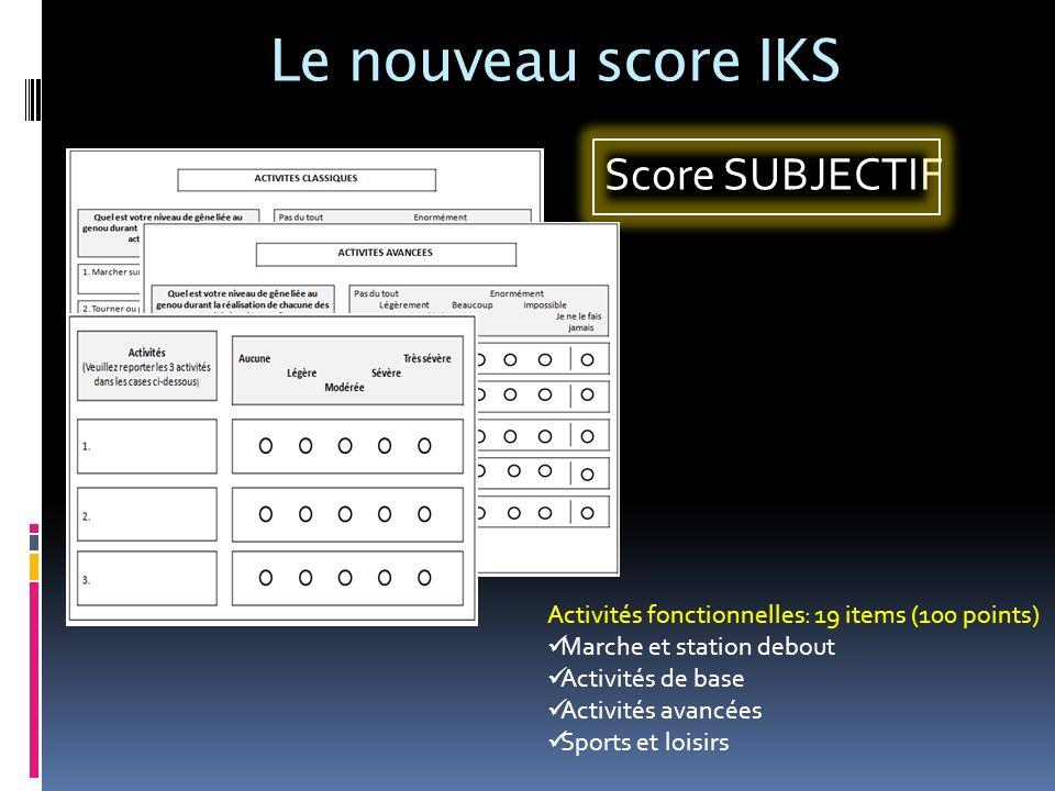 Le nouveau score IKS Score SUBJECTIF