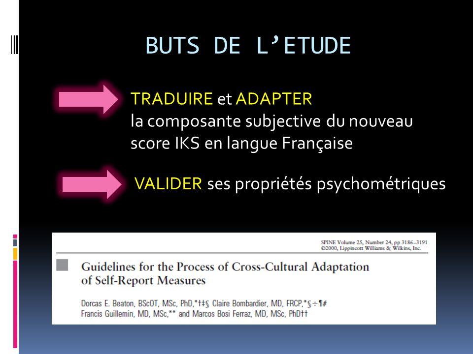 BUTS DE L'ETUDE TRADUIRE et ADAPTER