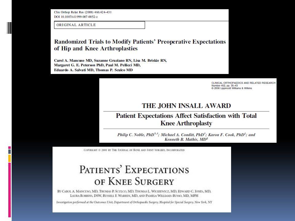 Car il ne faut pas l'oublier, la satisfaction du patient passe par l'évaluation de ses attentes