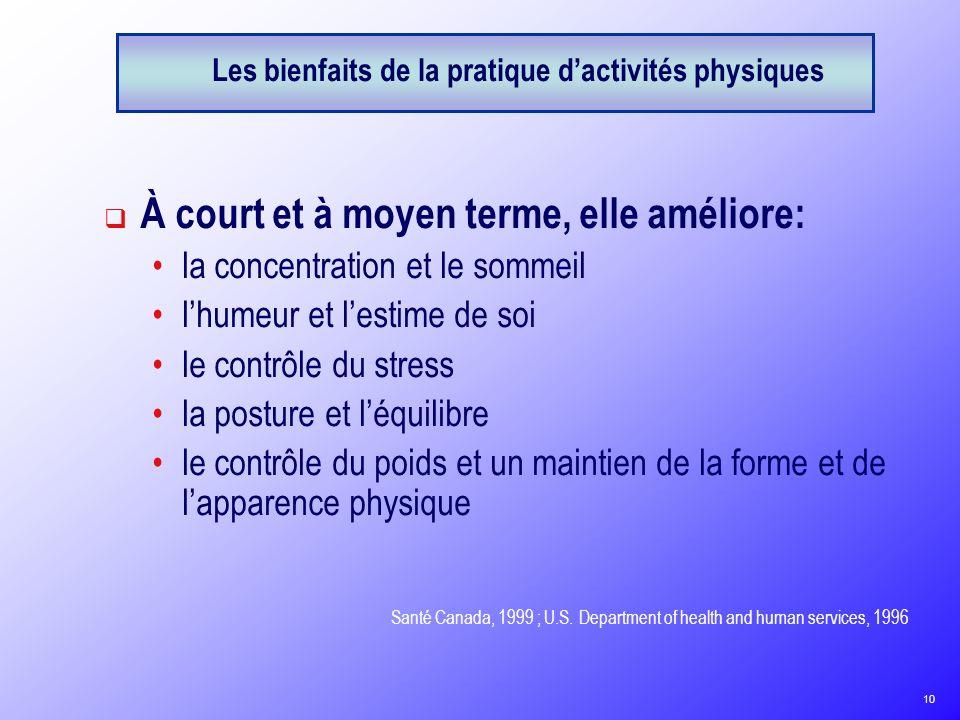Les bienfaits de la pratique d'activités physiques